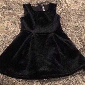 Xhilaration Black Velvet Dress XS 4/5 Holiday